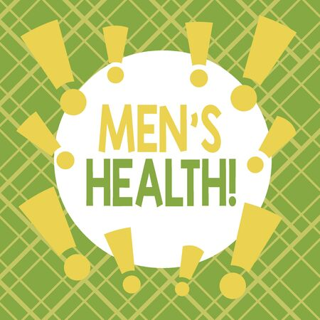 Text sign showing Men S Health. Business photo showcasing state of complete physical mental and social well being by analysis Asymmetrical uneven shaped format pattern object outline multicolour design