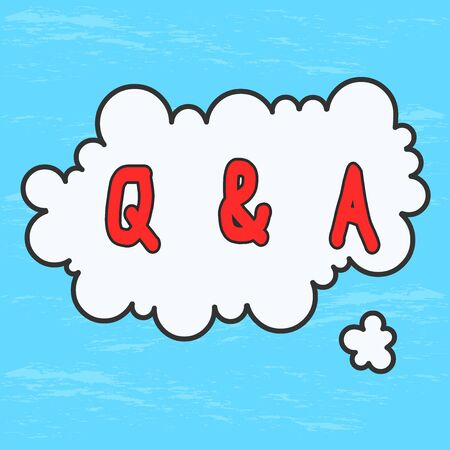 Handwriting text Q And A Question. Conceptual photo in which demonstrating asks questions and another one answers them Asymmetrical uneven shaped format pattern object outline multicolour design