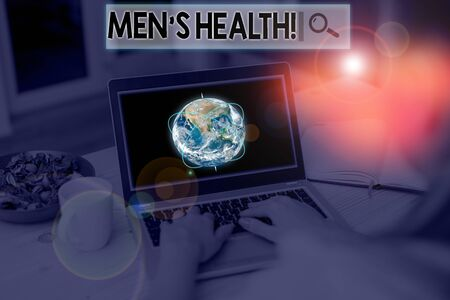Text sign showing Men S Health. Business photo showcasing state of complete physical mental and social well being by analysis Picture photo system network scheme modern technology smart device