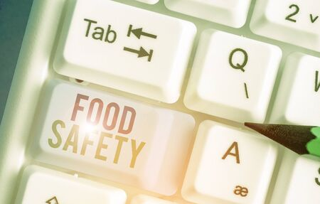 Handwriting text writing Food Safety. Conceptual photo conditions and practices that preserve the quality of food Stock fotó