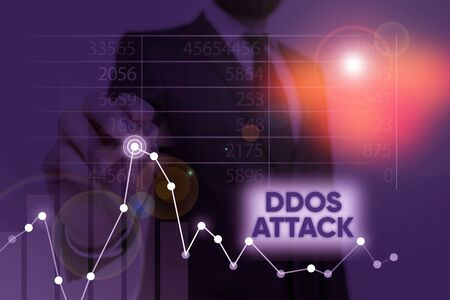 Word writing text Ddos Attack. Business photo showcasing perpetrator seeks to make a network resource unavailable to user