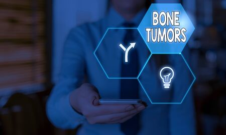 Word writing text Bone Tumors. Business photo showcasing can be either benign or malignant growths found in the bone