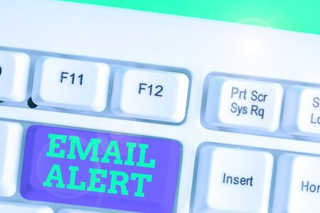 Text sign showing Email Alert. Business photo showcasing emails auto generated nd sent to designated recipients