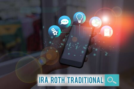 Word writing text Ira Roth Traditional. Business photo showcasing are tax deductible on both state and federal