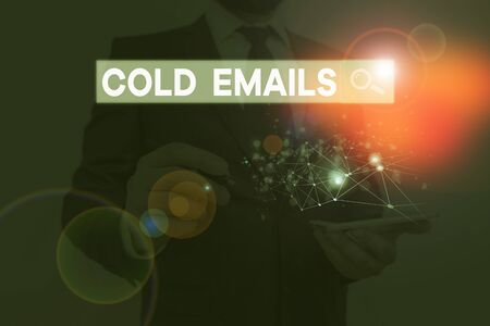 Handwriting text writing Cold Emails. Conceptual photo unsolicited email sent to a receiver without prior contact