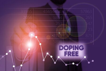 Word writing text Doping Free. Business photo showcasing proven not using any substance to illegally improve athletic