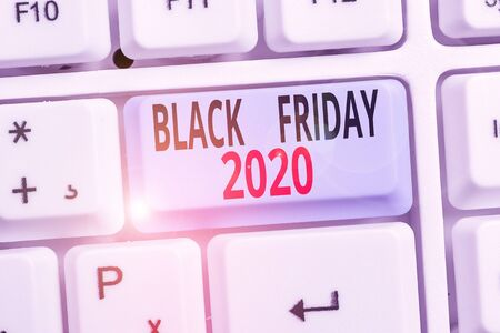 Word writing text Black Friday 2020. Business photo showcasing day following Thanksgiving Discounts Shopping day Stockfoto