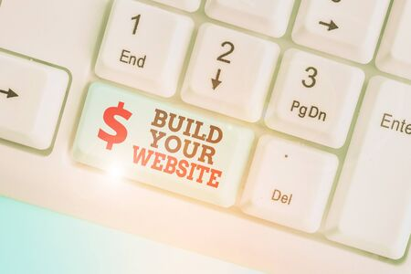 Conceptual hand writing showing Build Your Website. Concept meaning Setting up an ecommerce system to market a business