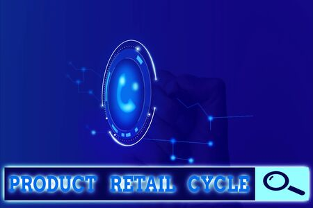 Writing note showing Product Retail Cycle. Business concept for as brand progresses through sequence of stages