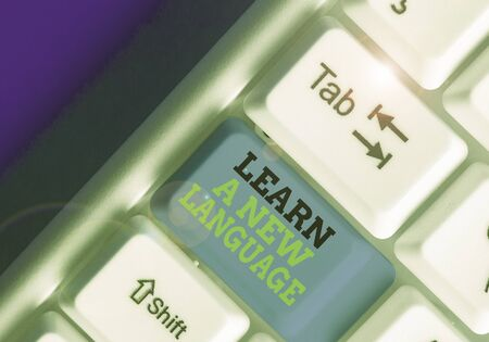 Text sign showing Learn A New Language. Business photo showcasing Study Words other than the Native Mother Tongue