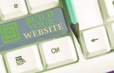 Text sign showing Build Your Website. Business photo text Setting up an ecommerce system to market a business
