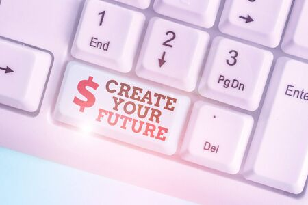 Conceptual hand writing showing Create Your Future. Concept meaning Set Target and Career goals Plan ahead Reach out