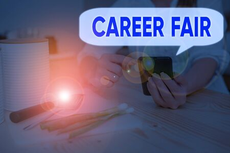 Handwriting text Career Fair. Conceptual photo an event at which job seekers can meet possible employers