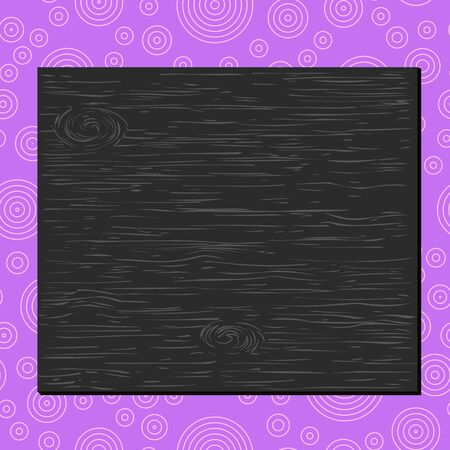 Square rectangle unreal cartoon wood wooden nailed stuck on coloured wall Design business concept Empty copy text for Web banners promotional material mock up template