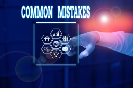 Handwriting text Common Mistakes. Conceptual photo actions that are often used interchangeably with error Picture photo system network scheme modern technology smart device
