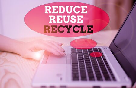 Handwriting text Reduce Reuse Recycle. Conceptual photo ways can eliminate waste protect your environment