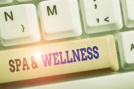 Text sign showing Spa And Wellness. Business photo text Place where showing go to improve their health Relaxation
