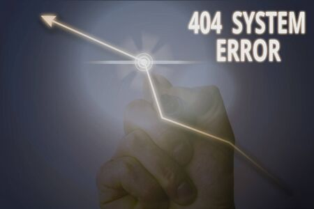 Conceptual hand writing showing 404 System Error. Concept meaning message appears when website is down and cant be reached