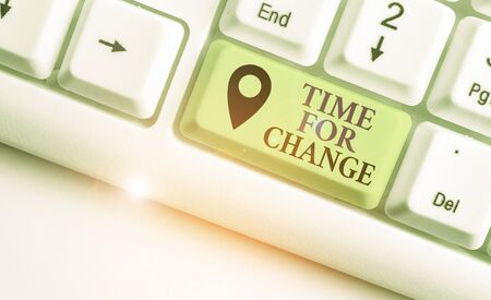 Writing note showing Time For Change. Business concept for Changing Moment Evolution New Beginnings Chance to Grow