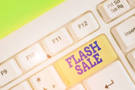 Handwriting text writing Flash Sale. Conceptual photo a sale of goods at greatly reduced prices at a short period Stock fotó