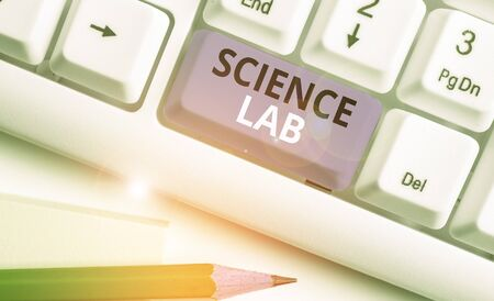 Handwriting text Science Lab. Conceptual photo special facility where experiments are done and with equipment Zdjęcie Seryjne