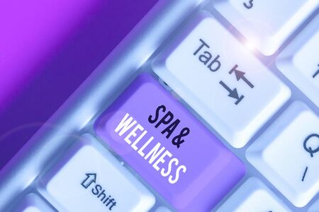 Handwriting text Spa And Wellness. Conceptual photo Place where showing go to improve their health Relaxation
