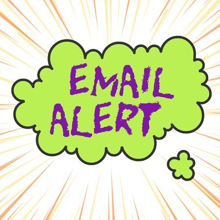 Handwriting text writing Email Alert. Conceptual photo emails auto generated nd sent to designated recipients Asymmetrical uneven shaped format pattern object outline multicolour design Banco de Imagens