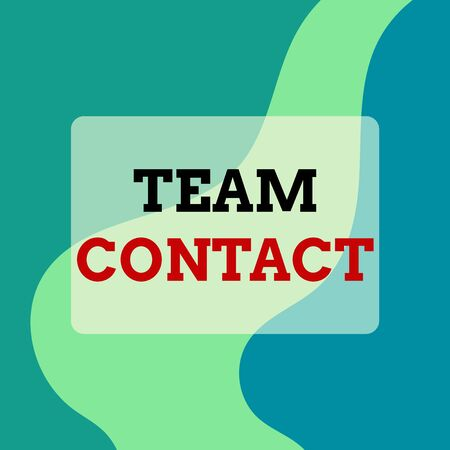 Text sign showing Team Contact. Business photo showcasing The interaction of the individuals on a team or group Square rectangle paper sheet loaded with full creation of pattern theme