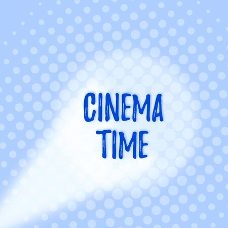 Text sign showing Cinema Time. Business photo text which entertainment such showing movie scheduled to start Grey Tiny Circles Getting Smaller it Fades Centered Round Blank Rectangular