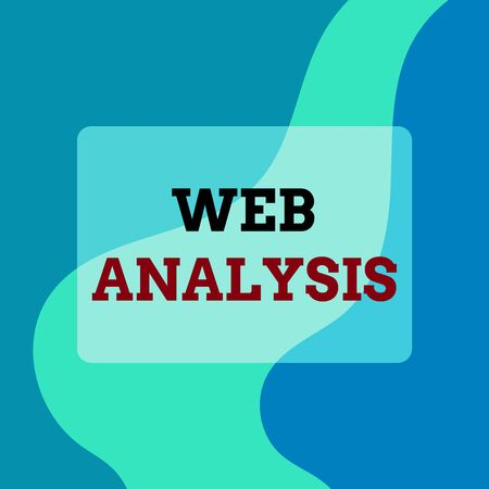 Text sign showing Web Analysis. Business photo showcasing process of analyzing the behavior of visitors to a web site Square rectangle paper sheet loaded with full creation of pattern theme