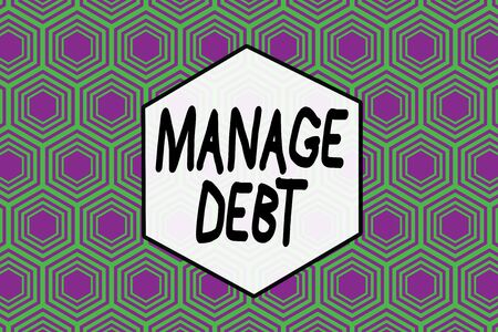 Word writing text Manage Debt. Business photo showcasing unofficial agreement with unsecured creditors for repayment Repeating geometrical rhombus pattern. Seamless abstract design. Wallpaper