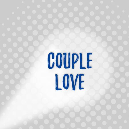 Text sign showing Couple Love. Business photo text two showing who love each other very much Feeling pleasure Grey Tiny Circles Getting Smaller it Fades Centered Round Blank Rectangular Banco de Imagens