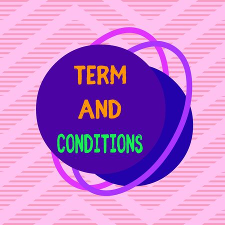 Handwriting text Term And Conditions. Conceptual photo Policies and Rules where one must Agree to Abide Asymmetrical uneven shaped format pattern object outline multicolour design