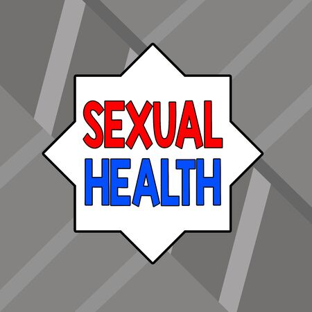 Word writing text Sexual Health. Business photo showcasing positive and respectful approach to sexual relationships Modern Architectural Straight Linear Design with Depth and Perspective Idea