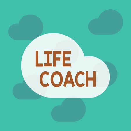 Text sign showing Life Coach. Business photo text someone who helps identify your goals and plan to achieve them Square rectangle paper sheet loaded with full creation of pattern theme