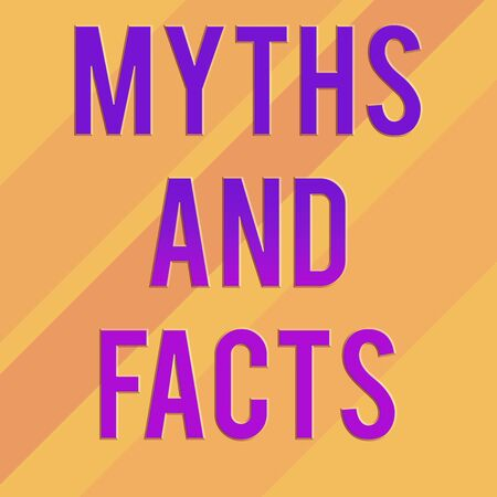Text sign showing Myths And Facts. Business photo text Oppositive concept about modern and ancient period Square rectangle paper sheet loaded with full creation of pattern theme