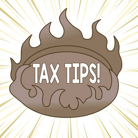 Writing note showing Tax Tips. Business concept for compulsory contribution to state revenue levied by government Asymmetrical uneven shaped pattern object multicolour design