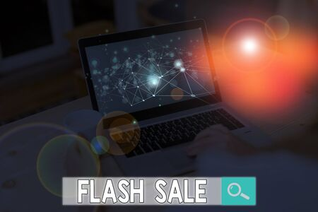 Text sign showing Flash Sale. Business photo text a sale of goods at greatly reduced prices at a short period