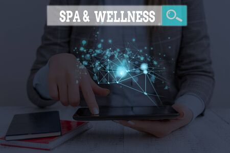 Handwriting text writing Spa And Wellness. Conceptual photo Place where showing go to improve their health Relaxation