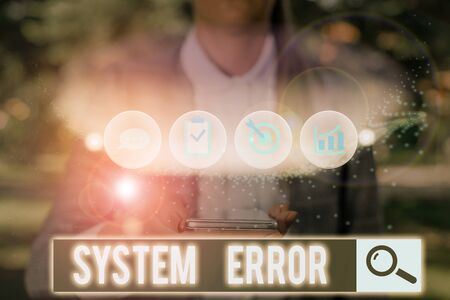 Text sign showing System Error. Business photo text instruction that is not recognized by an operating system