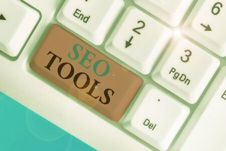 Handwriting text Seo Tools. Conceptual photo process of affecting online visibility of website or page
