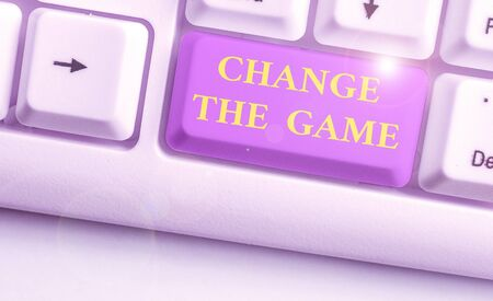 Word writing text Change The Game. Business photo showcasing Make a movement do something different new strategies Stock Photo