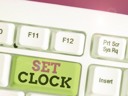 Text sign showing Set Clock. Business photo text put it to the right time or change the clock time to a later time