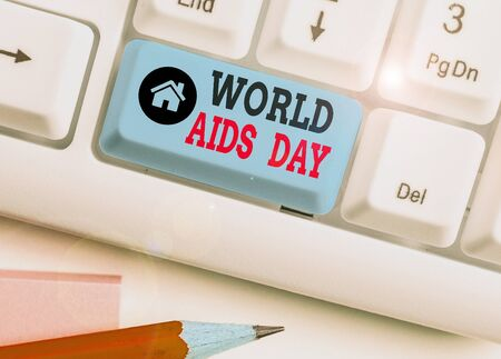 Word writing text World Aids Day. Business photo showcasing 1st December dedicated to raising awareness of the AIDS