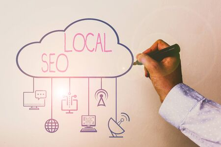 Handwriting text Local Seo. Conceptual photo optimize your website to rank better for a local audience Stock Photo