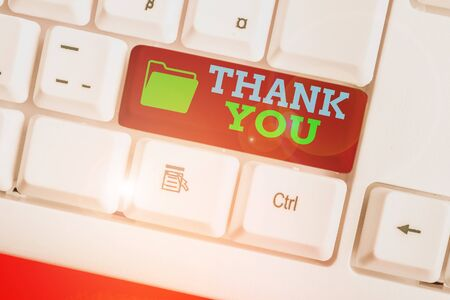 Word writing text Thank You. Business photo showcasing replaying on something good or greetings with pleased way Reklamní fotografie