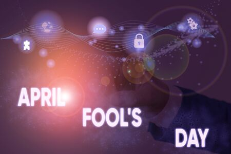 Text sign showing April Fool S Day. Business photo showcasing Practical jokes humor pranks Celebration funny foolish