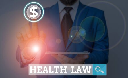 Word writing text Health Law. Business photo showcasing law to provide legal guidelines for the provision of healthcare