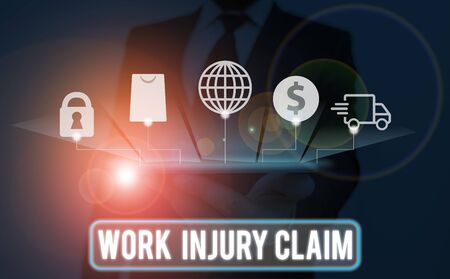 Text sign showing Work Injury Claim. Business photo text Medical care reimbursement Employee compensation