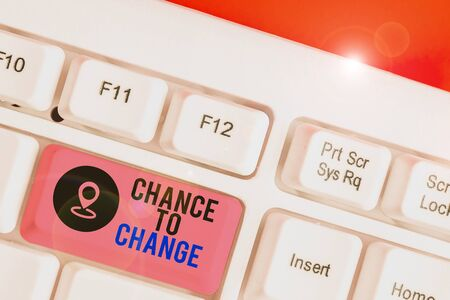 Conceptual hand writing showing Chance To Change. Concept meaning The opportunity for transformation New Business Ideas